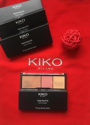 Палітра для обличчя face palette kiko milano