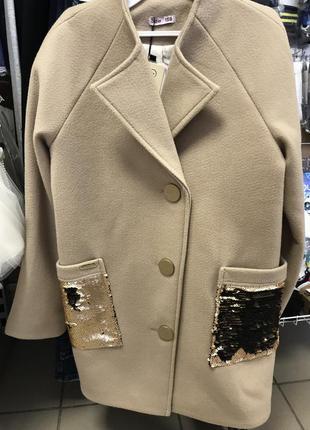 Шикарное пальто тм susi последний размер 140.