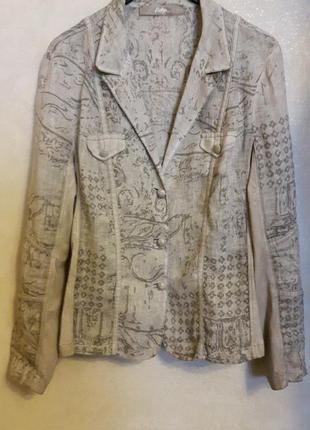 Эксклюзив! великолепный льняной пиджак bottega elisa cavaletti-изысканное бохо