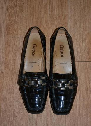 Лаковые (нат. кожа) туфли gabor