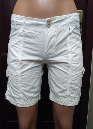 Белые коттоновые шорты размер xs-s