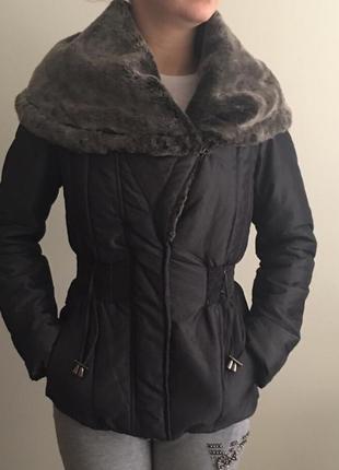 Куртка приталенная с мехом
