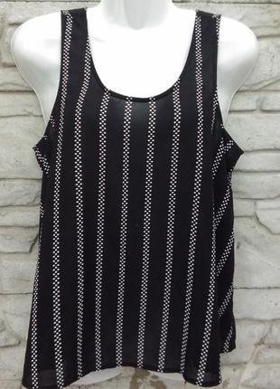 Распродажа!!! много скидок!!! шифоновая блуза черного цвета в белую точку atmosphere