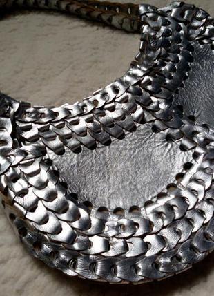 Плетеная  сумка из кожи натуральной  италия!!!