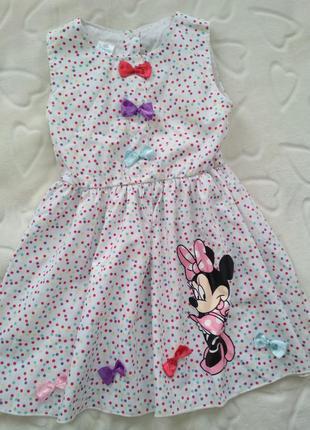 Платье мини горошек 110р1 фото