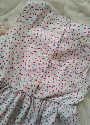 Платье мини горошек 110р3 фото