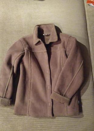 Легкая куртка дубленка