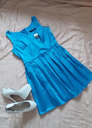 Красивое платье небесно голубого цвета marina  kaneva большого размера