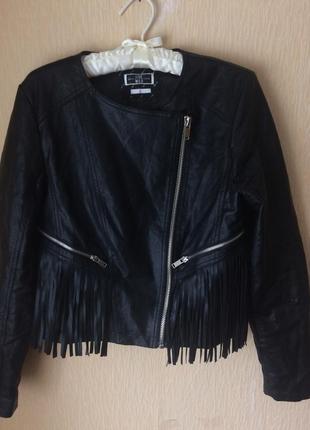 Куртка косуха с бахромой