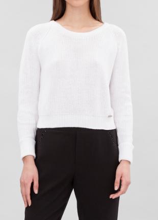 Белый укороченый свитер mango