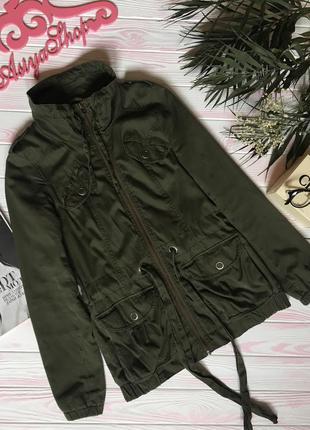 Куртка парка плащ пальто хаки милитари оливковая