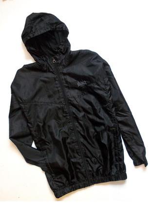 377d41cde283 Оригинальная черная ветровка олимпийка дождевик спортивная плащевка с  капюшоном куртка