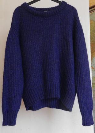 Шикарный свитер оверсайз zara italian yarn итальянская пряжа,мохер ( m и боль см.замеры)