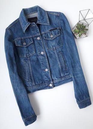 Классная укороченная джинсовка куртка