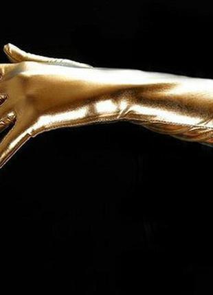 Золотые перчатки для вечеринки в стиле мулен руж