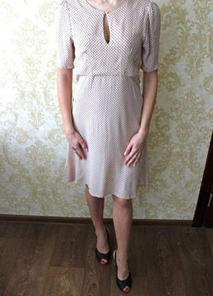 Поспеши! только одно! нюдовое платье h&m, летний сарафан