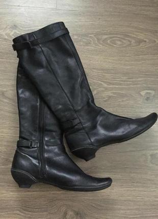 Сапоги clarks ботинки кожа