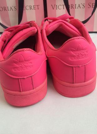 Adidas superstar розовые кроссовки