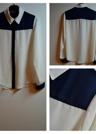 Новая стильная белая блуза с длинным рукавом размер 8(с)