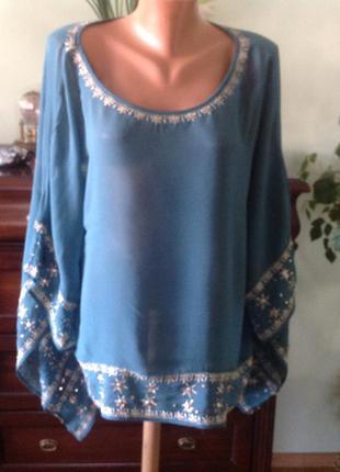 Красивая вискозная блуза- болеро. xl. brend monsoon