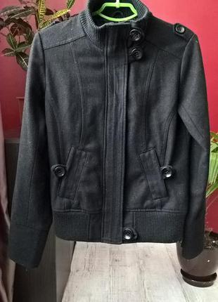 Пальто-куртка от chicoree в спортивном стиле с манжетами из шерсти-s-ка