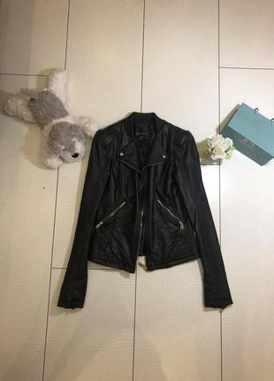 Куртка кожаная amisu