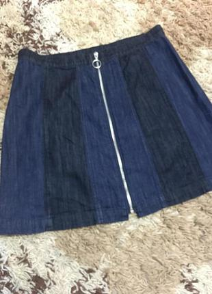 Стильная юбка трапеция с молнией h&m