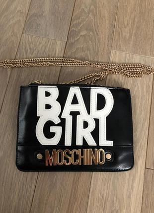 Клатч сумка moschino bad girl