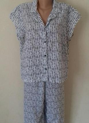 Домашний костюм-пижама с принтом большого размера