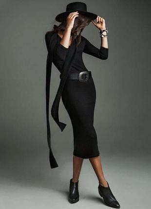 Черное платье stradivarius