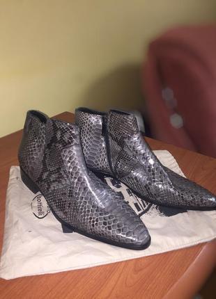 Ботінки челсі roberto bottichelli з шкіри змії ,ручної роботи