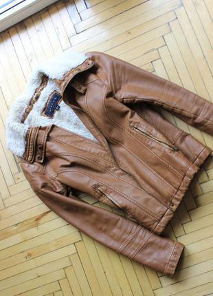 Куртка косхуха бомбер пальто