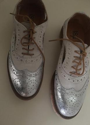 Кожаные  ботинки  оксфорды  италия
