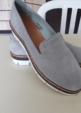 Модные туфли! натуральная замша.