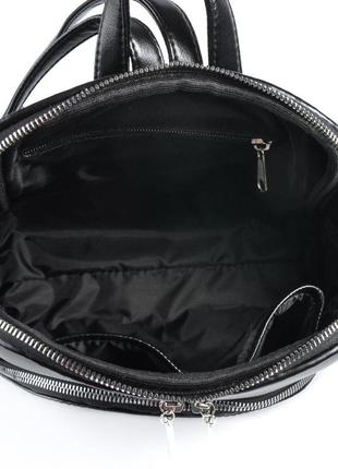 Черный женский городской рюкзак9 фото