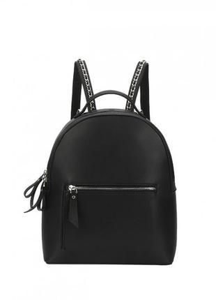Черный удобный городской рюкзак