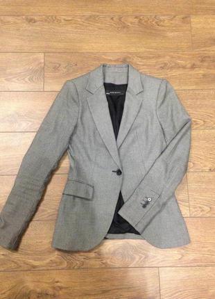 Удлиненный пиджак жакет блейзер zara