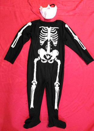 Карнавальный костюм на хэллоуин скелет 6-8 лет
