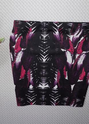 Распродажа шикарных вещей! новая, крутая юбка в модный принт, р-р 14