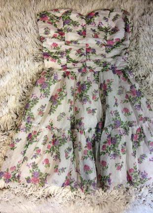 Платье oodji с цветочным принтом