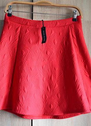 Фактурная юбка из плотной ткани без подкладки от river island