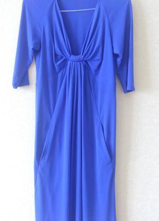 Платье - трапеция цвет электрик