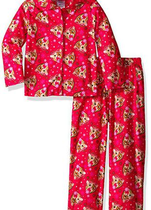 Флисовая пижама с рудольфом олененком rudolph на девочку 18 месяцев 1,5 года