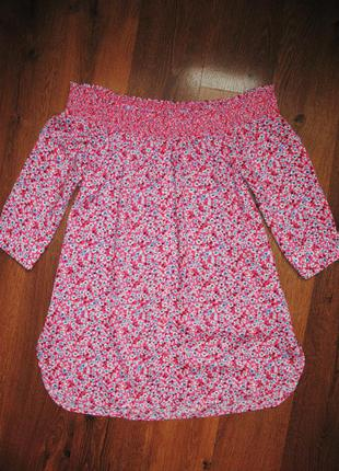 Блуза с приспущенными плечами от next