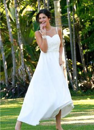 Свадебное вечернее выпускное платье в пол