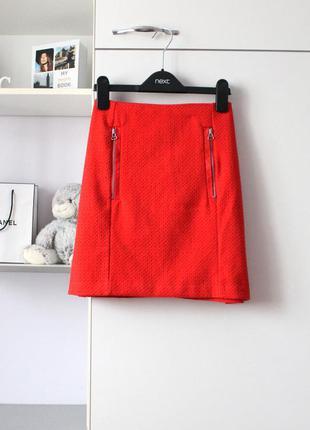 Красная юбочка с замочками от tu