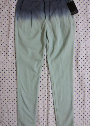 Шикарные зауженные брюки zara