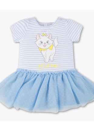 Новое платье полосатое с кошечкой, c&a, 351/23