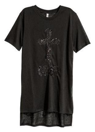 H&m футболка новая с пайетками
