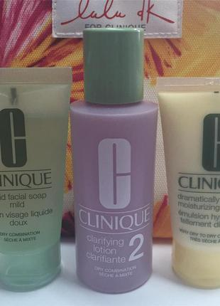 Clinique набор 3-ступенчатой системы комбинированной , склонной к сухости кожи